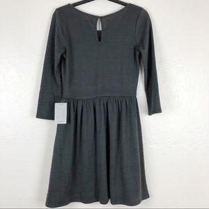 Collective Concepts Dresses - Collective Conceptos 3/4 Sleeve Grey dress S M